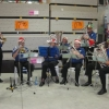 The Carols Ensemble entertain at the Christmas family evening at Bunnings, Boolaroo, on 10 December 2015.