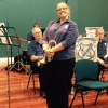 A cheeky grin from soprano cornet Jou McDougall at the Movie Magic Concert 20 September 2015