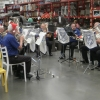 CNL Brass Ensemble playing traditional Christmas Carols at Bunnings Wallsend 10 December 2016