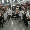CNL Brass Carols Ensemble playing Christmas Cariols at Bunnings Wallsend Saturday 10 December 2016