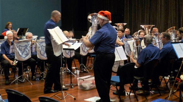 "David Walker features on euphonium, playing ""Merry Christmas Darling"""